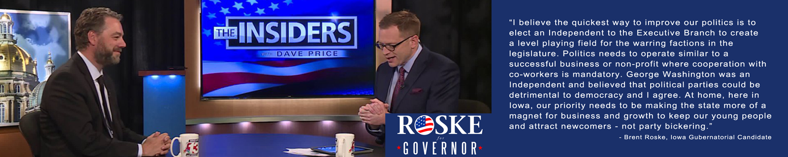 Brent Roske For Governor of Iowa